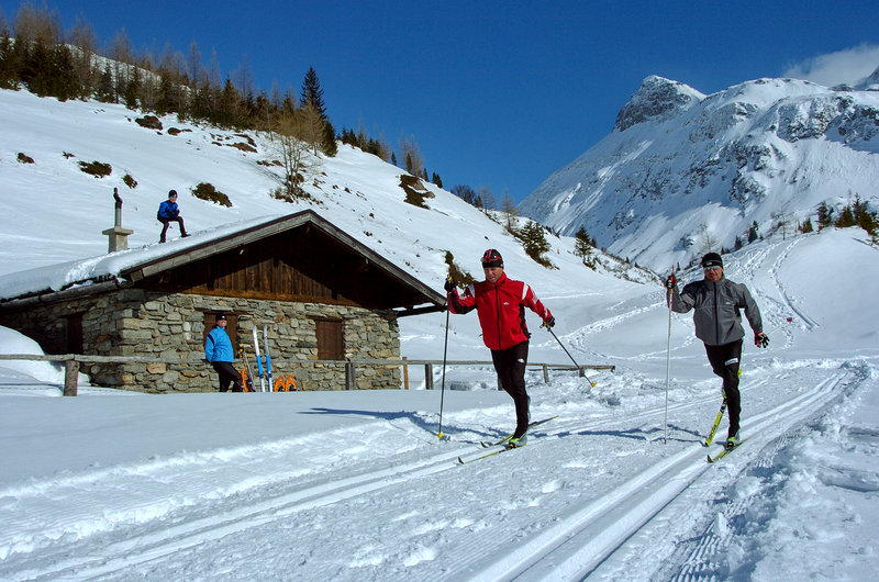 langlaufen - cross-country skiing in gastein